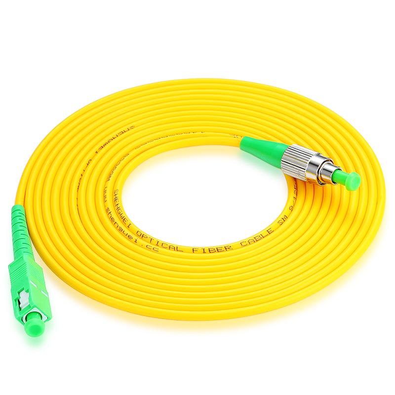 胜为(shengwei) FSFC-1050 工程电信级光纤跳线 SC(APC)-FC(APC)单模单芯 5米 收发器尾纤 网络光纤线