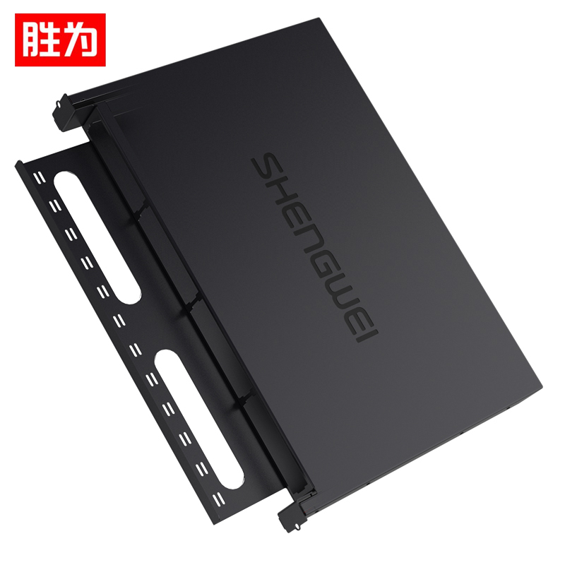 胜为(shengwei)MDF-201U  MPO光纤配线箱 高密度1U单模多模配线架 模块化光纤终端盒续接盘熔接/预端接分线箱