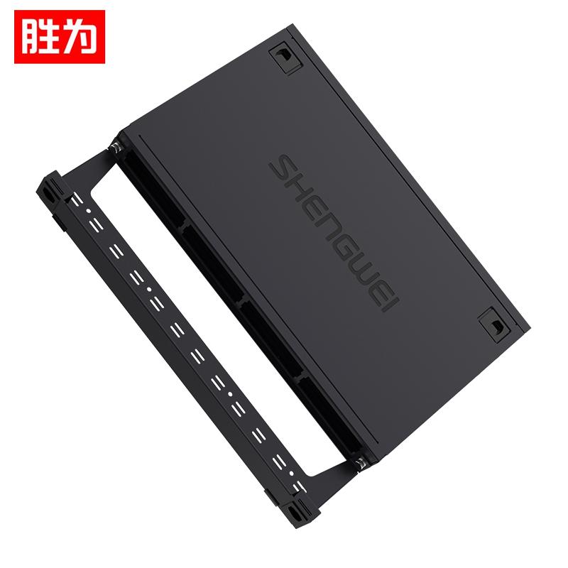 胜为(shengwei) MDF-101U  MPO光纤配线箱 高密度1U单模多模配线架 模块化光纤终端盒续接盘熔接/预端接分线箱