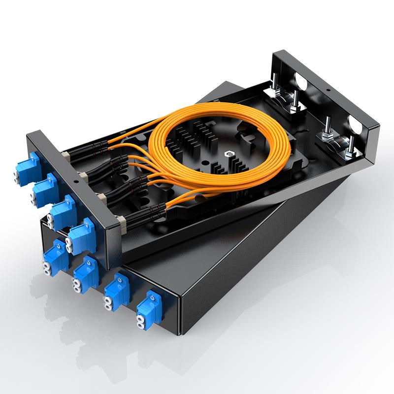 胜为 光纤终端盒 8口多模LC接口尾纤光缆熔接盒