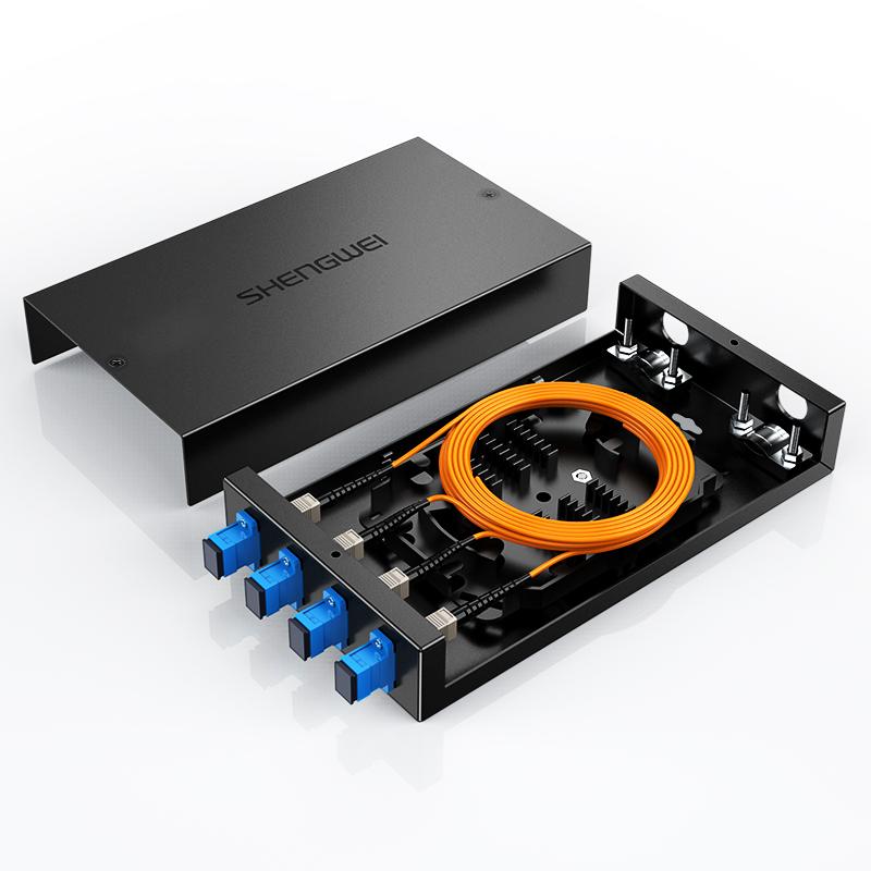胜为 光纤终端盒 SC接口4口多模尾纤光缆熔接盒