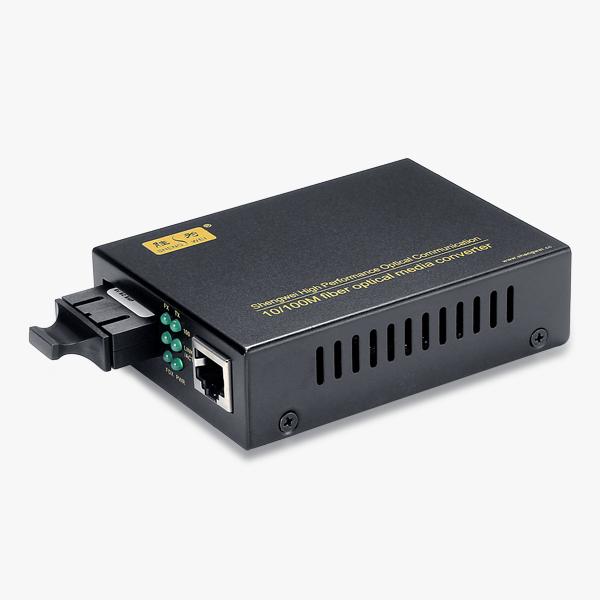 高端工程定制 百兆 单模双纤 光纤收发器