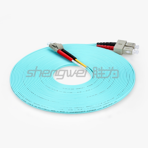 电信级 LC/UPC-SC/UPC多模双芯光纤跳线 10米