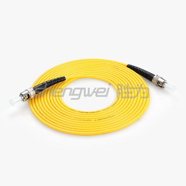 电信级 ST(UPC)-ST(UPC)单模单芯光纤跳线 5米
