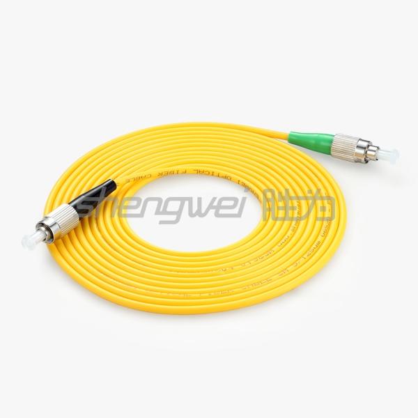 电信级 FC(APC)-FC(UPC)单模单芯光纤跳线 5米