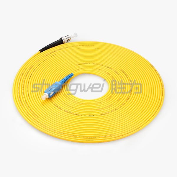 电信级 ST(UPC)-SC(UPC)单模单芯光纤跳线 10米