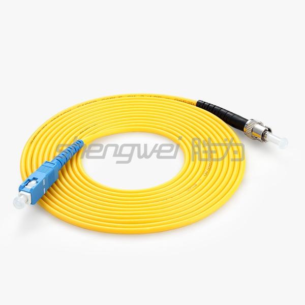 电信级 ST(UPC)-SC(UPC)单模单芯光纤跳线 5米