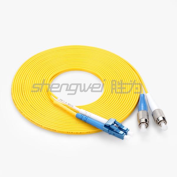 电信级 LC(UPC)-FC(UPC)单模双芯光纤跳线 10米