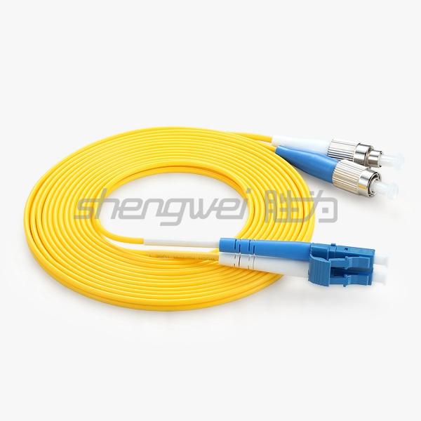 电信级 LC(UPC)-FC(UPC)单模双芯光纤跳线 5米
