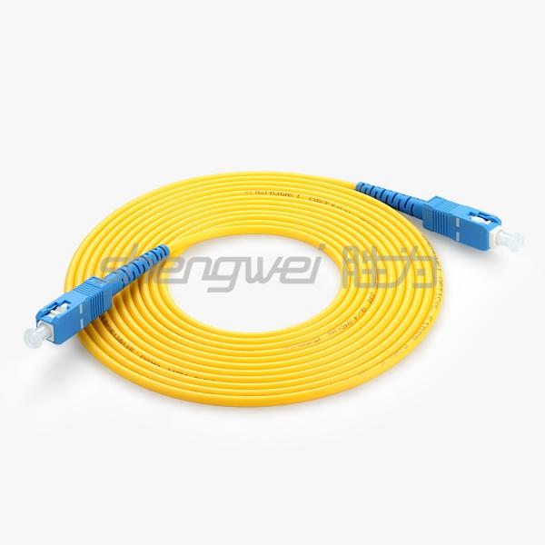 电信级 SC(UPC)-SC(UPC)单模单芯光纤跳线 5米