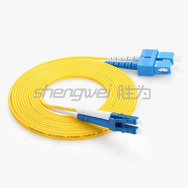 电信级 SC(UPC)-LC(UPC)单模双芯光纤跳线 3米