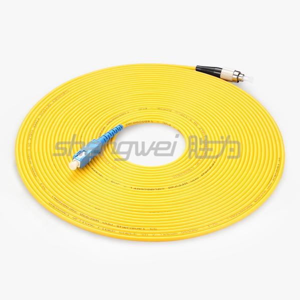 电信级 SC(UPC)-FC(UPC)单模单芯光纤跳线 10米