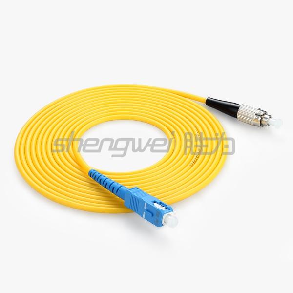 电信级 SC(UPC)-FC(UPC)单模单芯光纤跳线 3米