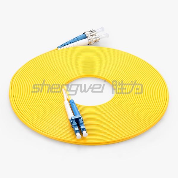 电信级 ST(UPC)-LC(UPC)单模双芯光纤跳线 10米