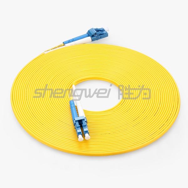 电信级 LC(UPC)-LC(UPC)单模双芯光纤跳线 10米