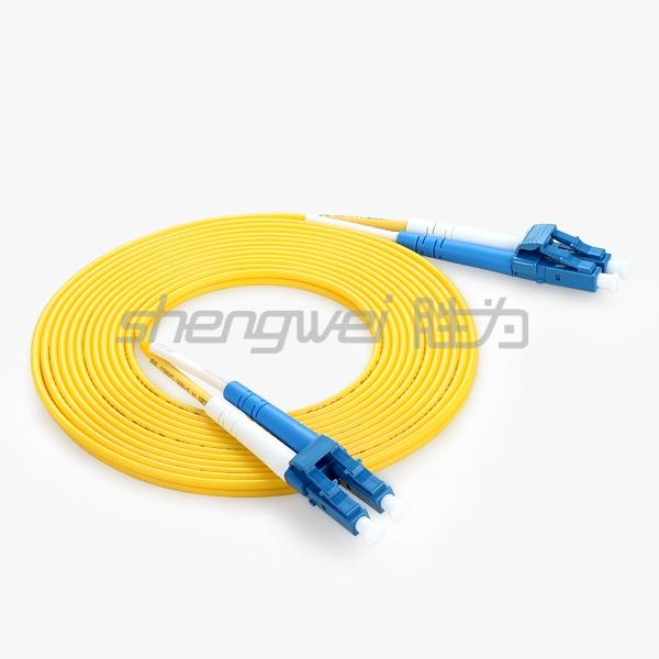 电信级 LC(UPC)-LC(UPC)单模双芯光纤跳线 5米
