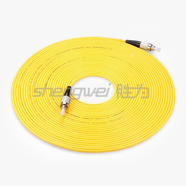 电信级 FC(UPC)-FC(UPC)单模单芯光纤跳线 10米