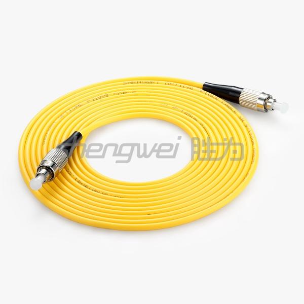 电信级 FC(UPC)-FC(UPC)单模单芯光纤跳线 5米