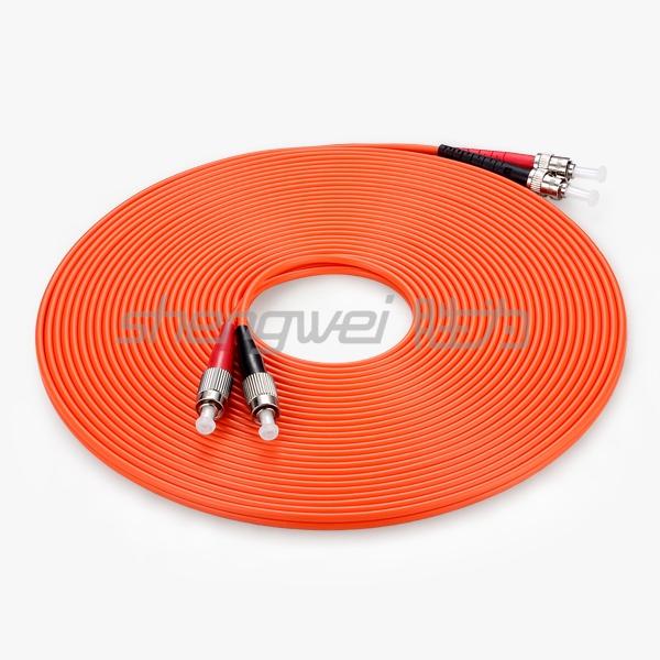 工程电信级 ST(UPC)-FC(UPC)多模双芯光纤跳线 10米