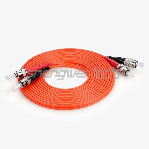 电信级  ST(UPC)-FC(UPC)多模双芯光纤跳线 5米