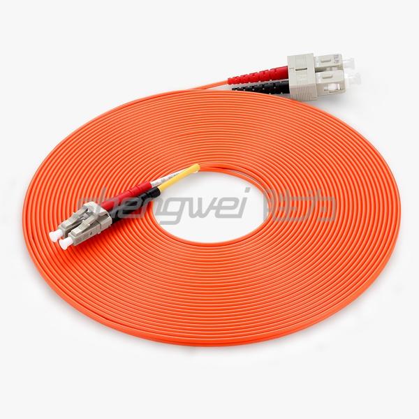 电信级 SC(UPC)-LC(UPC)多模双芯光纤跳线 10米