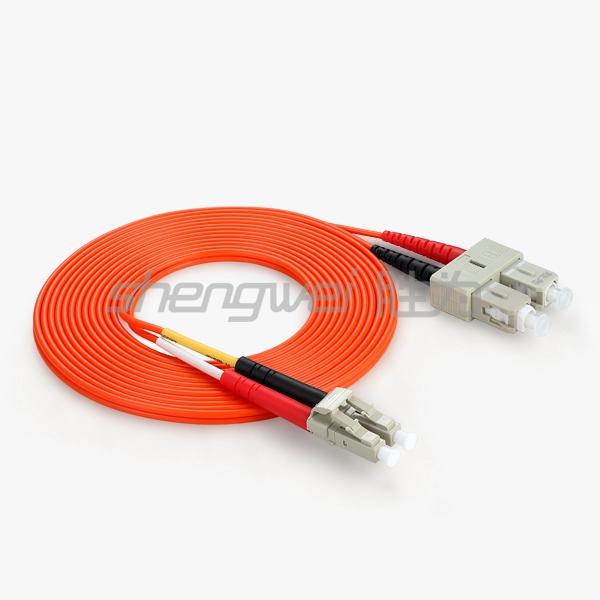 电信级 SC(UPC)-LC(UPC)多模双芯光纤跳线 3米