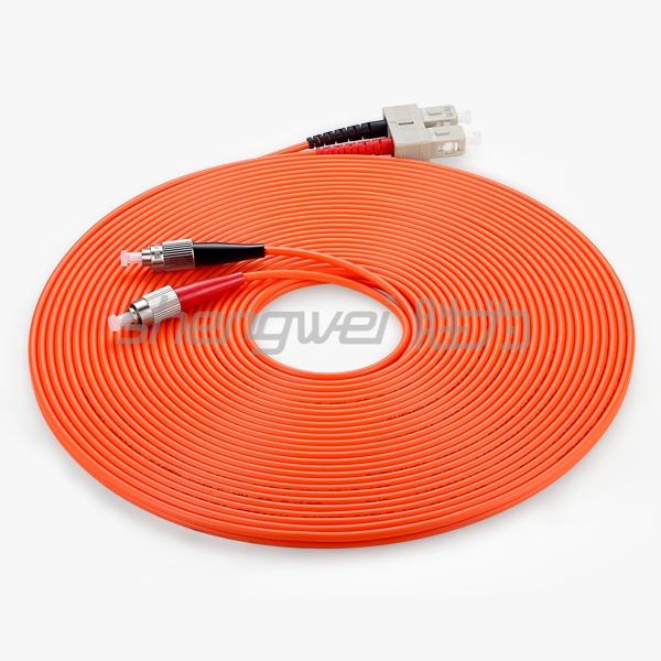 电信级 SC(UPC)-FC(UPC)多模双芯光纤跳线 10米