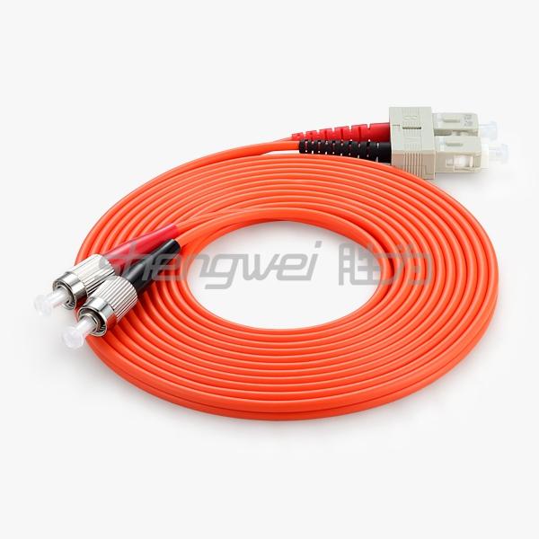 电信级 SC(UPC)-FC(UPC)多模双芯光纤跳线 3米