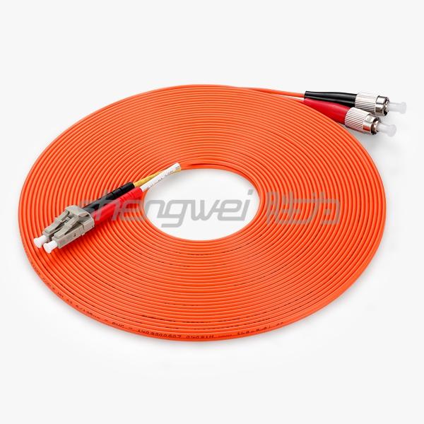 电信级 LC(UPC)-FC(UPC)多模双芯光纤跳线 10米