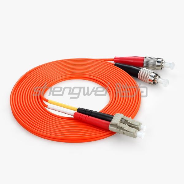 电信级 LC(UPC)-FC(UPC)多模双芯光纤跳线 5米
