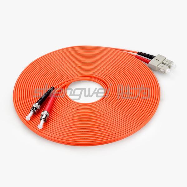 电信级 ST(UPC)-SC(UPC)多模双芯光纤跳线 10米