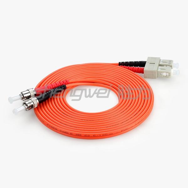 电信级 ST(UPC)-SC(UPC)多模双芯光纤跳线 3米