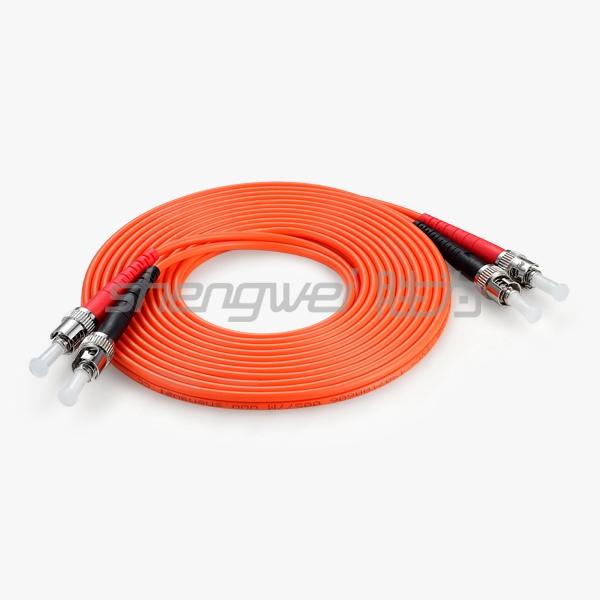 电信级 ST(UPC)-ST(UPC)多模双芯光纤跳线 5米