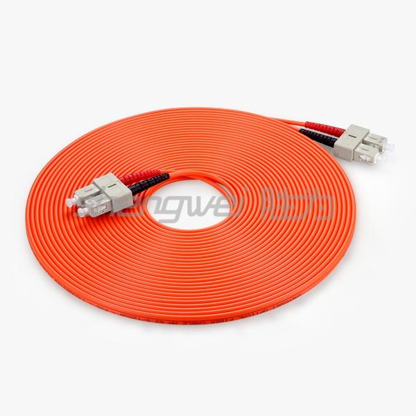电信级 SC(UPC)-SC(UPC)多模双芯光纤跳线 10米