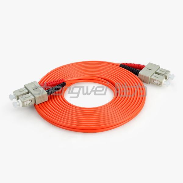 电信级 SC(UPC)-SC(UPC)多模双芯光纤跳线 5米