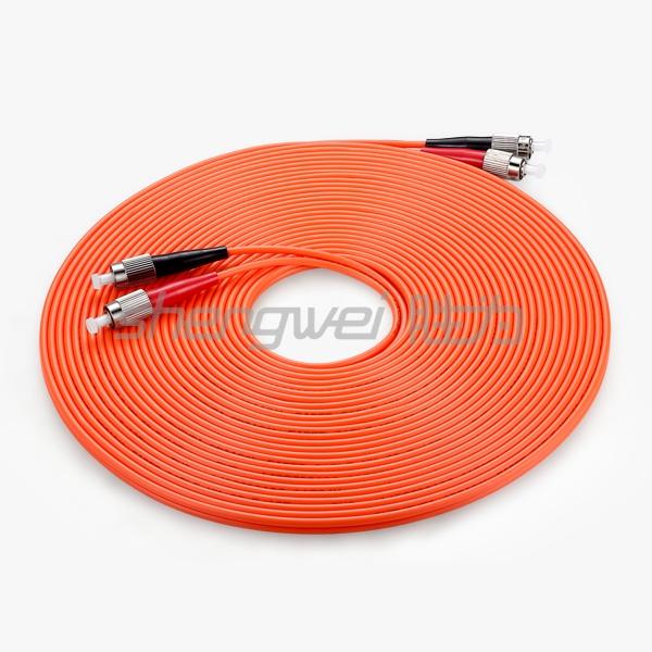电信级 FC(UPC)-FC(UPC)多模双芯光纤跳线 10米