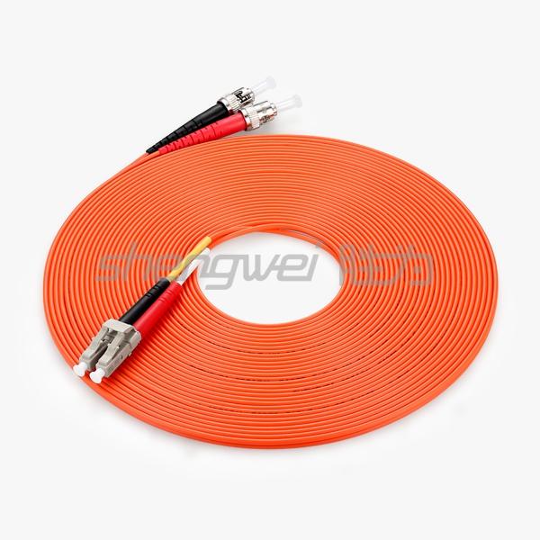 电信级 ST(UPC)-LC(UPC)多模双芯光纤跳线 10米