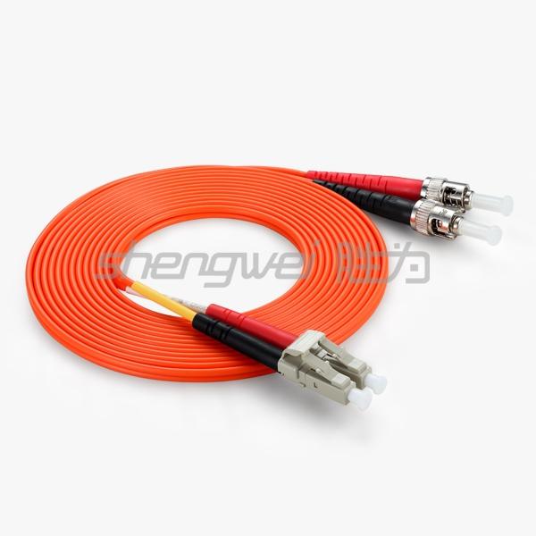 电信级 ST(UPC)-LC(UPC)多模双芯光纤跳线 3米