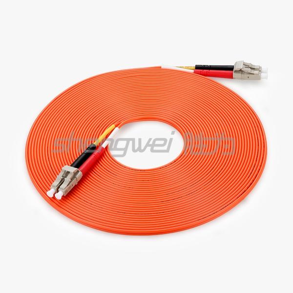 电信级 LC(UPC)-LC(UPC)多模双芯光纤跳线 10米