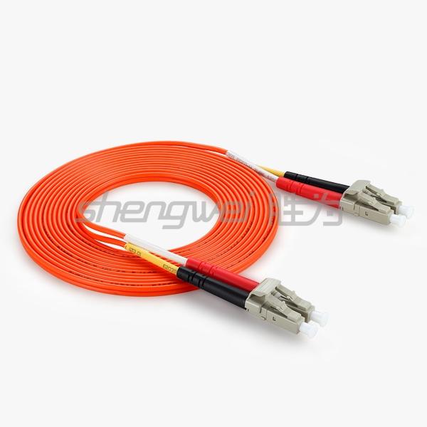 电信级 LC(UPC)-LC(UPC)多模双芯光纤跳线 3米