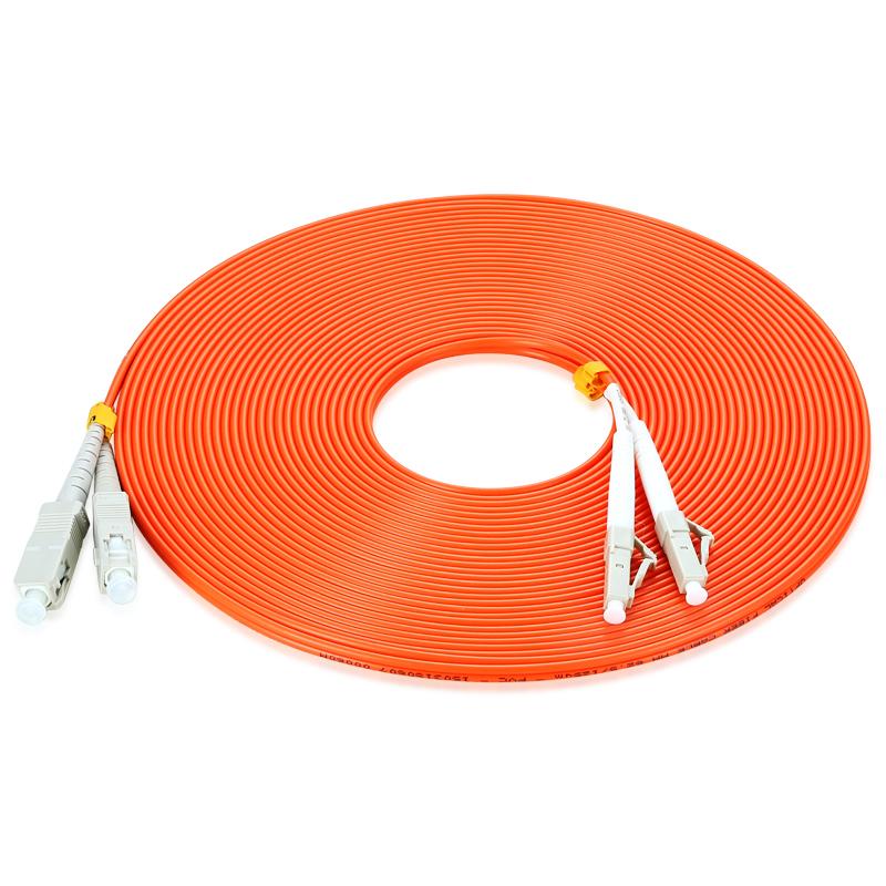 胜为 FMC-605 电信级光纤跳线 优质进口插芯 LC-SC多模双芯 收发器尾纤 10米