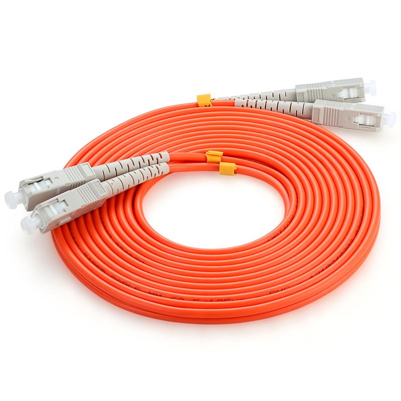 胜为(shengwei)FMC-2201 电信级光纤跳线 SC-SC多模双芯尾纤 50米/对 交换机/光纤盒光纤线