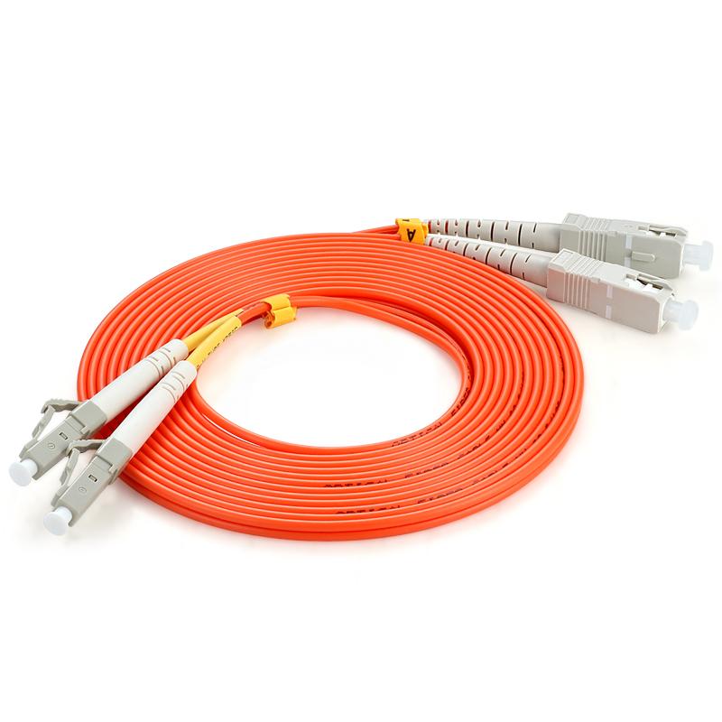 胜为(shengwei)FMC-205 电信级光纤跳线 LC-SC多模双芯 收发器尾纤 3米