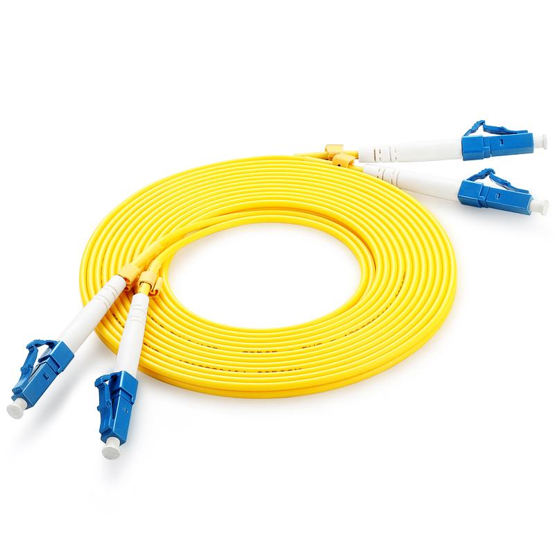胜为(shengwei)FSC-1307 电信级LC-LC光纤跳线 30米/对 单模双芯尾纤 收发器/光猫连接线