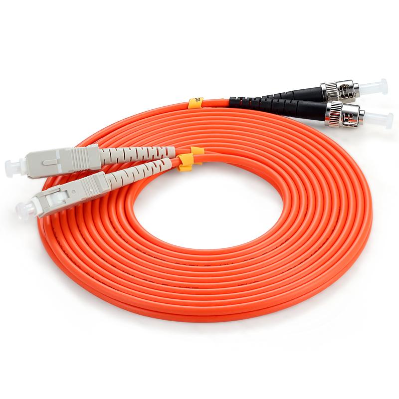 胜为(shengwei)FMC-603 电信级光纤跳线 优质进口插芯 ST-SC多模双芯 收发器尾纤 10米