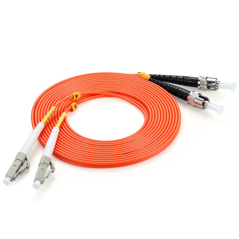 胜为(shengwei)FMC-406 电信级光纤跳线 优质进口插芯 LC-ST多模双芯 收发器尾纤 5米