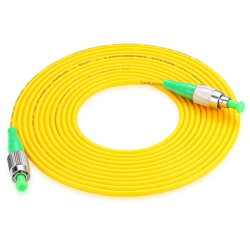 胜为(shengwei) FFFC-1050 工程电信级光纤跳线 FC(APC)-FC(APC)单模单芯 5米 收发器尾纤 网络光纤线