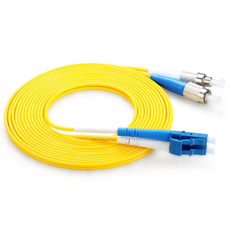 胜为(shengwei) FLFA-1100 工程电信级光纤跳线 LC(UPC)-FC(UPC)单模双芯 10米 收发器尾纤 网络光纤线