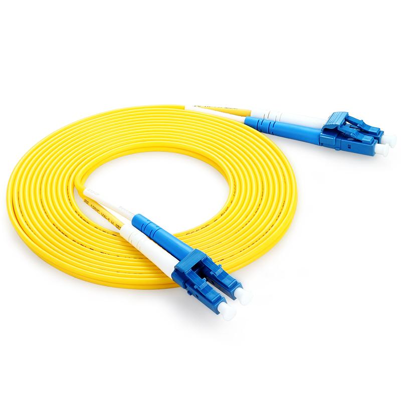 胜为(shengwei) FLLA-1050 工程电信级光纤跳线 LC(UPC)-LC(UPC)单模双芯 5米 收发器尾纤 网络光纤线