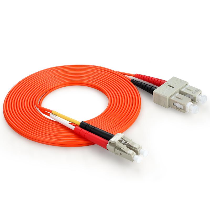 胜为(shengwei) FSLB-1100 工程电信级光纤跳线 SC(UPC)-LC(UPC)多模双芯 10米 收发器尾纤 网络光纤线